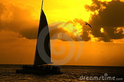 Sunset On Water Stock Photos - Image: 4402613