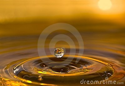 Sunset Water Drop