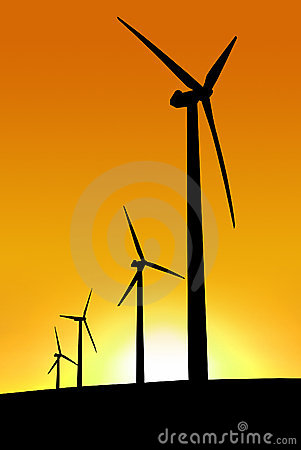 Free Sunset Wind Farm Stock Photos - 2533883