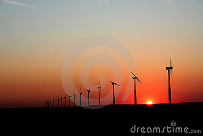 Sunset Wind Generators