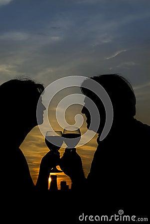 Free Sunset Wine Royalty Free Stock Photos - 1152918