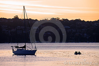Sunset on Yacht in Manly Cove