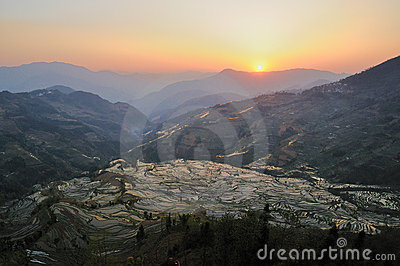 Sunset of YuanYang Rice Terrace