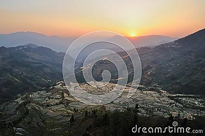 Sunset of YuanYang Rice Terrace
