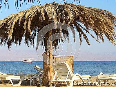 Sunshade on a beach