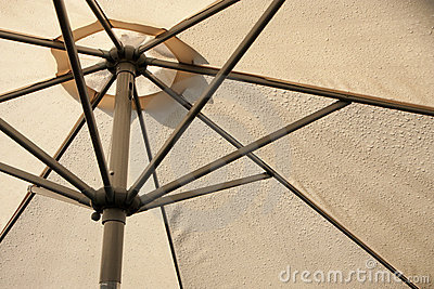 Sunshade covered by rain drops