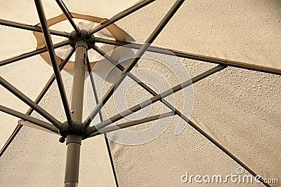Sunshade covered by rain drops
