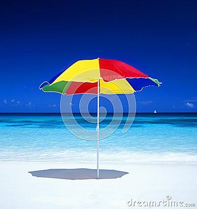 Free Sunshade On The Beach Royalty Free Stock Photography - 11839997