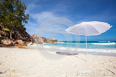 Sunshade at a tropical beach