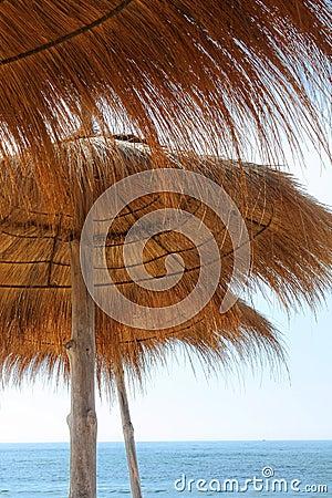 Sunshades and sea
