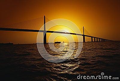 Sunshine Bridge over ocean, FL