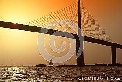 Sunshine Bridge over Tampa Bay, FL