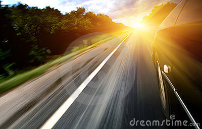 Sunshine on highway