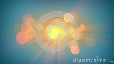 Sunshine and lens flares abstract background Stock Photo