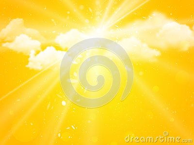Sunshine sky abstract summer background Vector Illustration