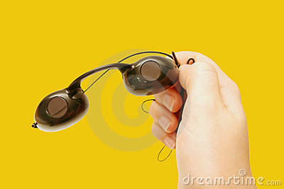 Suntan goggles