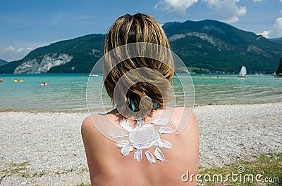 Suntan in the summer