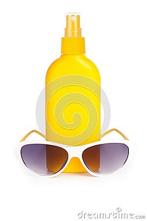 Suntan with sunglasses