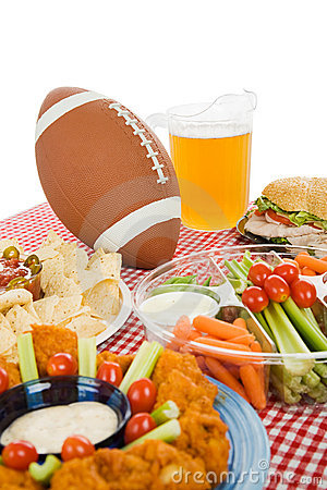 Super Bowl Party Table Stock Photos - Image: 6359033