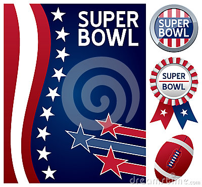 Super Bowl Set Editorial Photography