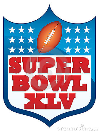 Super Bowl XLV 2011 Badge Editorial Image