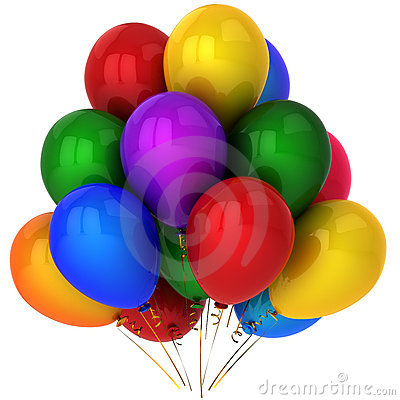 Free Super Colorful Helium Balloons (Hi-Res) Royalty Free Stock Photo - 16550265