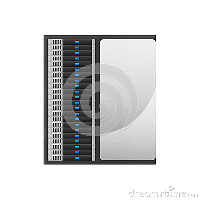 Super Computer Is Network Server For Storage Data And Fast Proce Stock