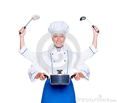 Super cook with many hands