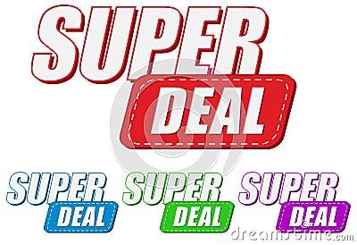 Super deal, four colors labels