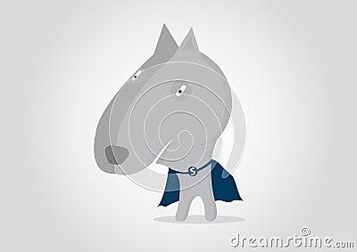 Super Hero Dog pitbull