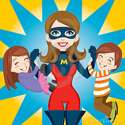 Free Super Hero Mom Royalty Free Stock Photos - 19205088