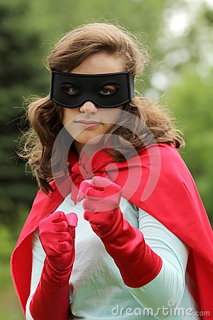 Super hero ready to fight