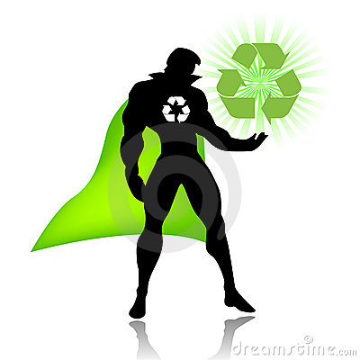 Super hero of recycling