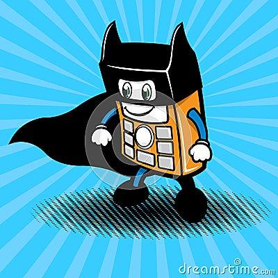 Super Hero Smartphone Illustration Royalty Free Stock