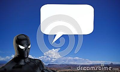 Super hero talking Stock Photo