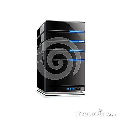 Super komputer serwer wektora