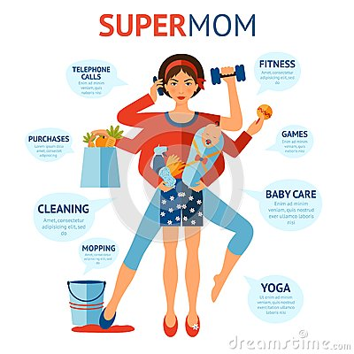 Free Super Mom Concept Royalty Free Stock Photo - 56575295