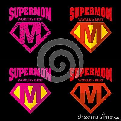 Free Super Mom Hero Logo Supehero Letters Stock Photography - 97639432