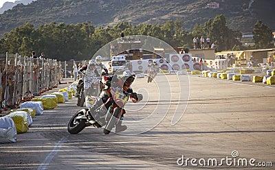 Super motard in Olbia Sardinia Editorial Photo