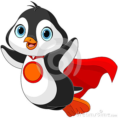 Free Super Penguin Royalty Free Stock Photos - 51309788