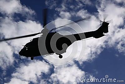 Super-puma helicopter
