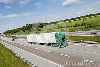 Super sized truck in motion