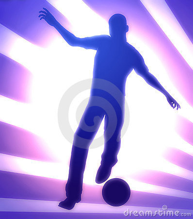 Super soccer star illustration