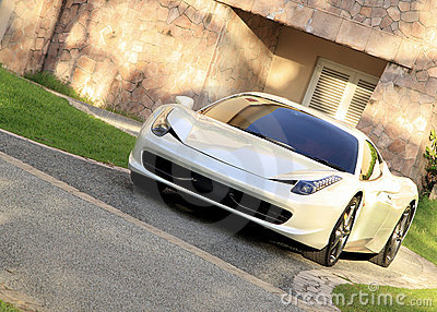 Super sports car Editorial Stock Photo