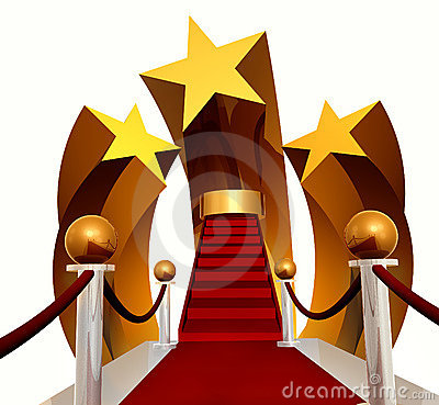 Super Star Stage On Red Carpet Royalty Free Stock Image - Image: 8471666