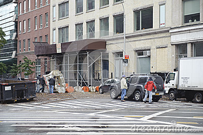 After super storm Sandy in new york Editorial Stock Photo