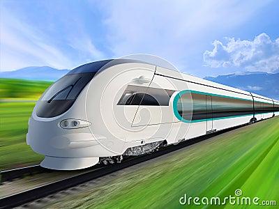 Super streamlined train