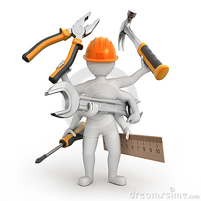 Free Super Universal Repairman Stock Image - 35319801