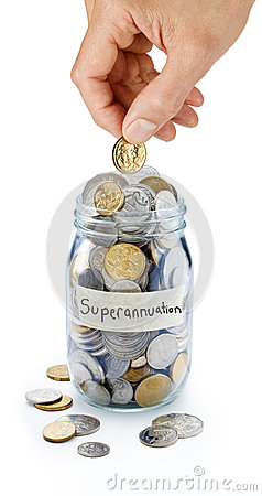 Free SuperannuationSavings Coin Jar Stock Photo - 41640880
