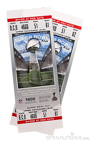 Superbowl XLV Tickets NFL American Football Editorial Image